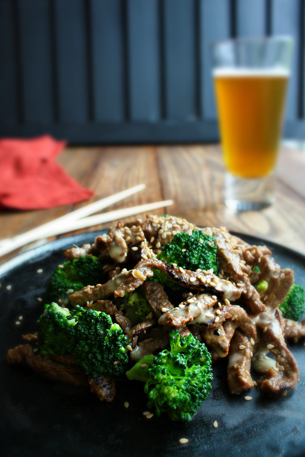 Japanese Sesame Beef and Broccoli | Wozz! Kitchen Creations