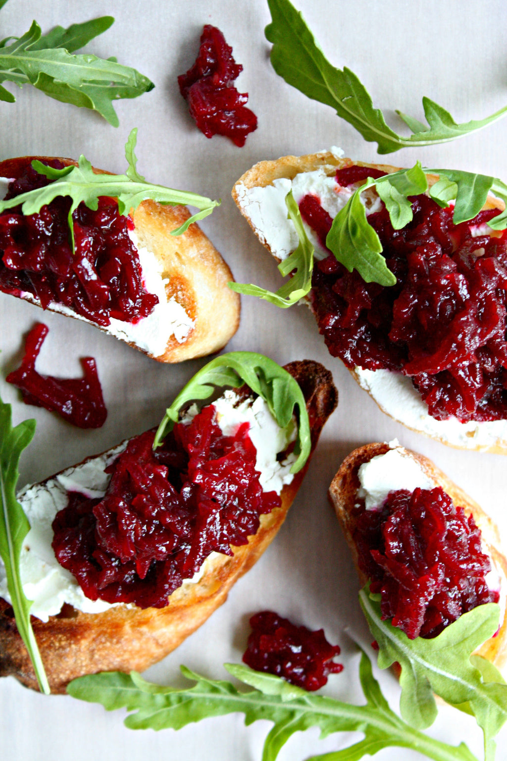 Beet Goats Cheese Crostini | Wozz! Kitchen Creations