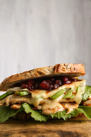Chicken and Cranberry Sauce Sandwich | Wozz! Kitchen Creations