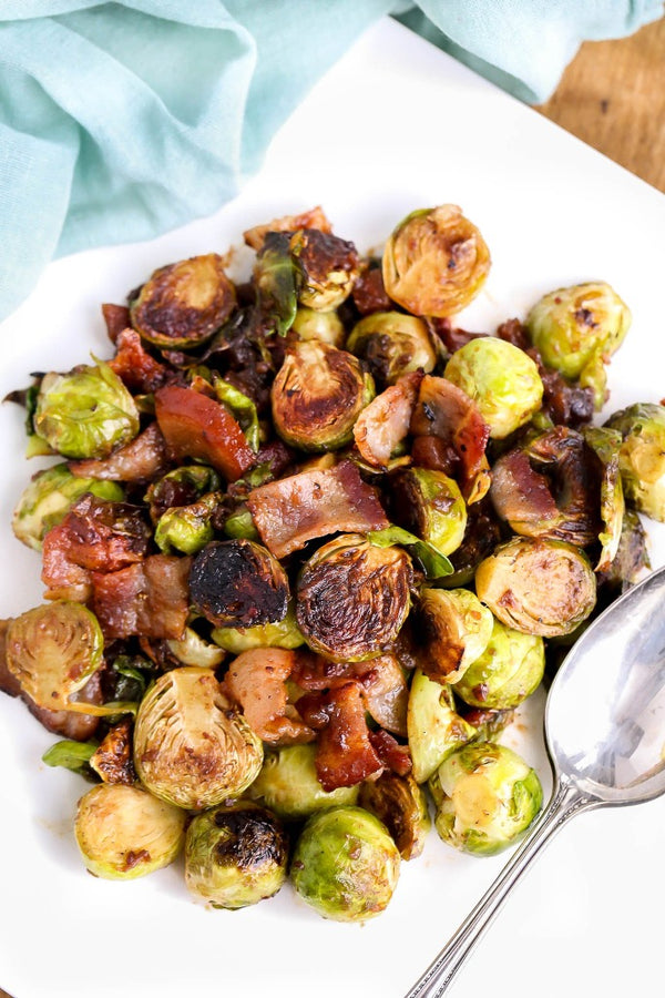 Brussels Sprouts with Bacon Date and Orange Chutney