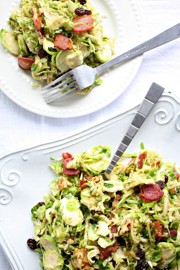 Brussels Sprout Bacon Salad Recipe | Wozz! Kitchen Creations