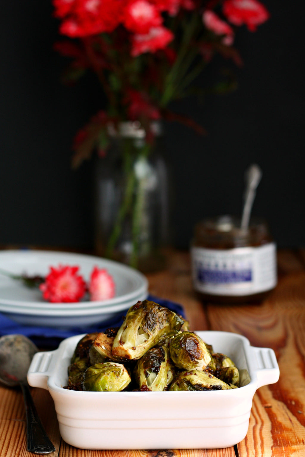 Balsamic Fig Brussels Sprouts
