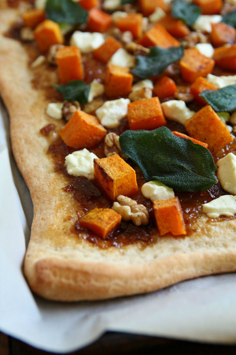 Butternut Squash, Triple Ale Onion Spread, Goats Cheese Pizza