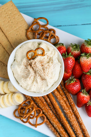 White Chocolate Banana Cheesecake Fruit Dip