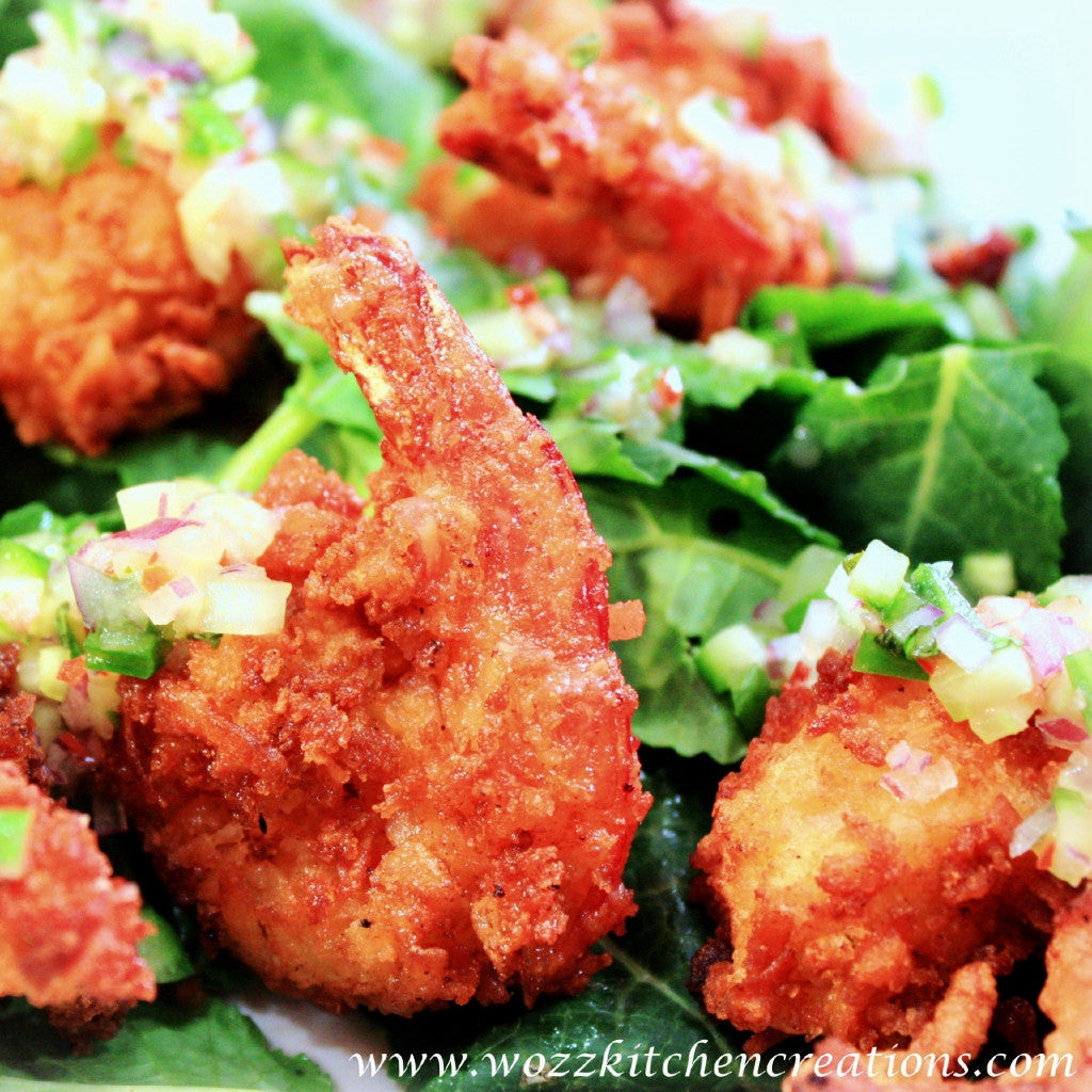 Coconut Shrimp Salad | Lychee Dressing | Wozz! Kitchen Creations