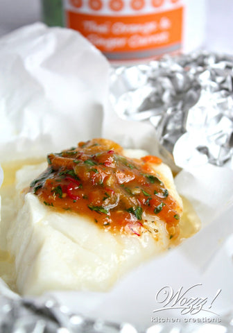 Orange Ginger Baked Cod