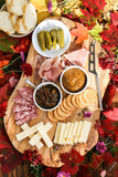 Charcuterie and Cheese Board with Wozz! Onion Jam and Savory Mustard Condiments