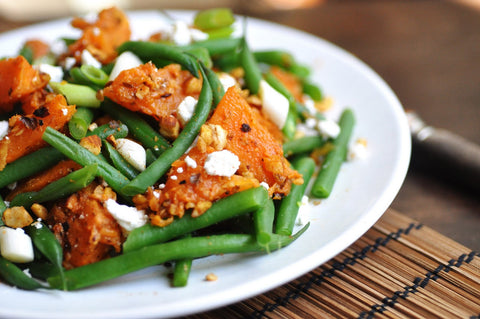 Roasted Squash and Green Bean Salad