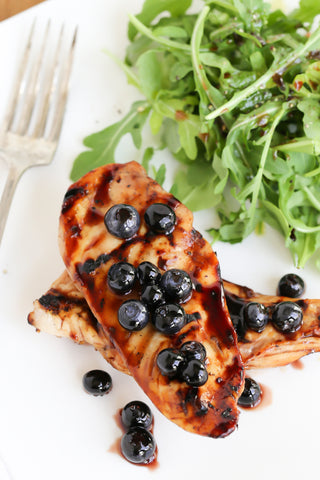 Grilled Chicken with Blueberry Sauce | Wozz! Kitchen Creations