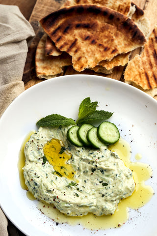 Lemon Green Tahini Tzatziki