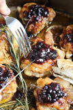 Lemon Rosemary Chicken with Blueberry Maple Walnut Compote