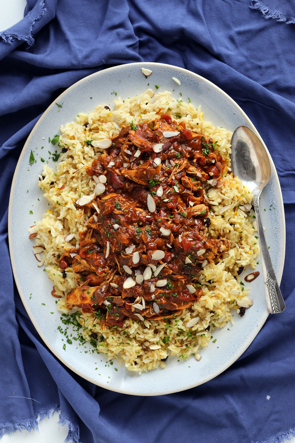Moroccan Chicken over Rice
