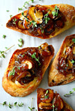 Mushroom Onion Crostini | Wozz! Kitchen Creations