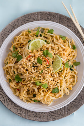 Cambodian Noodles with Peanut Sauce