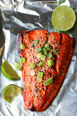 Orange Sesame and Sweet Chili Salmon