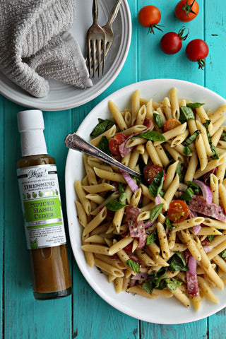 Pasta Salad with Basil Cider Dressing