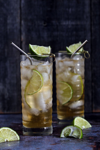 Pear Ginger Dark and Stormy Cocktails