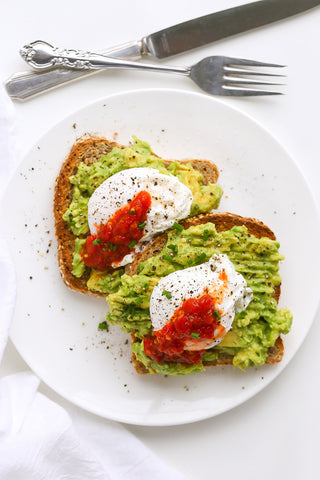 Poached Eggs on Avocado Toast with Super Hot Chili Sambal