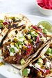 Mexican Pulled Pork {Carnitas} Tacos with Serrano Cilantro Lime Hot Sauce