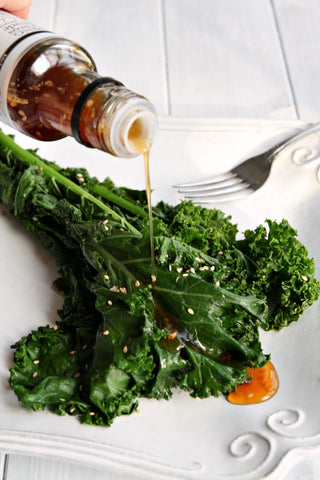 Sauteed Kale with Ginger Soy Dressing