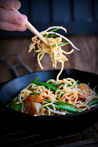 Orange Sesame Shrimp Noodles | Wozz! Kitchen Creations