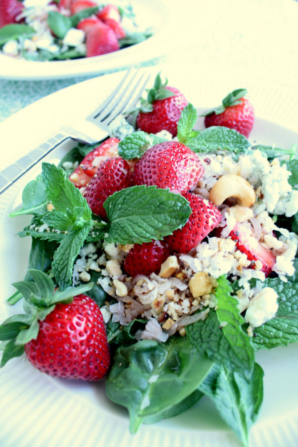 Strawberry Salad | Strawberry Vinegar | Wozz! Kitchen Creations