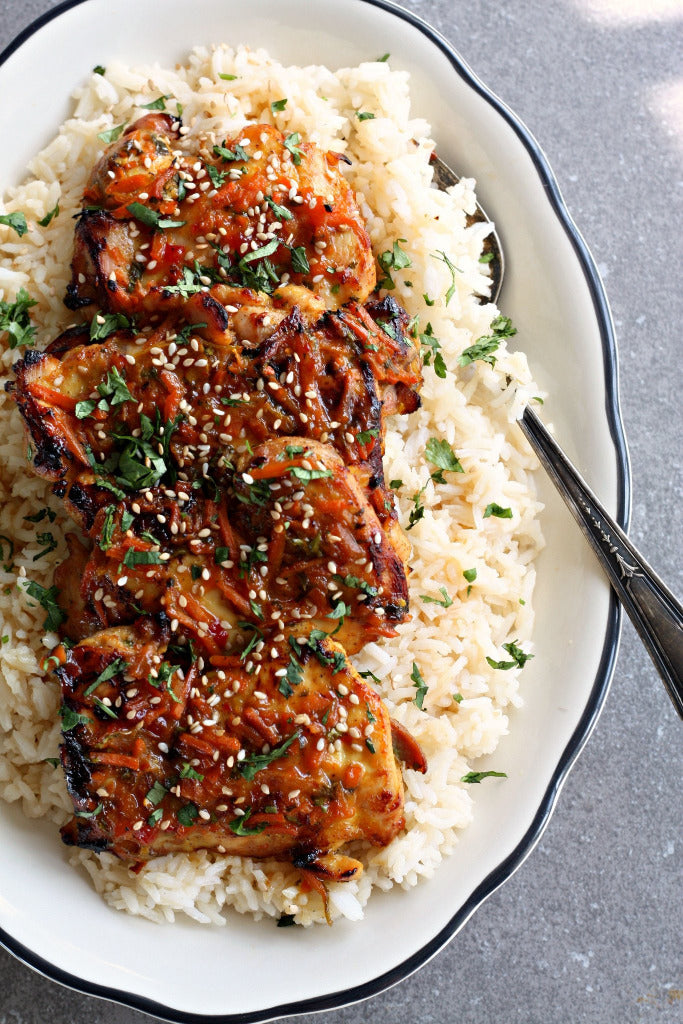 Thai orange ginger chicken with ginger soy rice wozz kitchen thai orange ginger chicken forumfinder Image collections