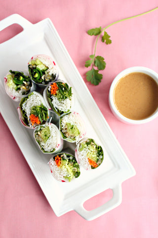 Vegetarian Summer Rolls | Japanese Dipping Sauce