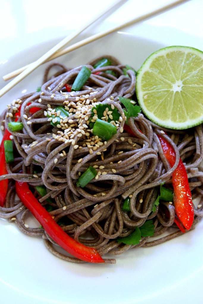 Ginger Soy Soba Noodle Salad | Wozz! Kitchen Creations | Recipes