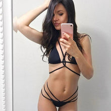 Load image into Gallery viewer, Black Brazilian bikini | Bandage