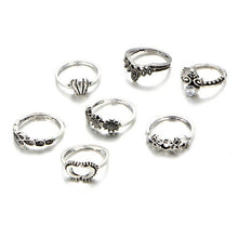 Load image into Gallery viewer, 7 pcs Bohemian Ring Set