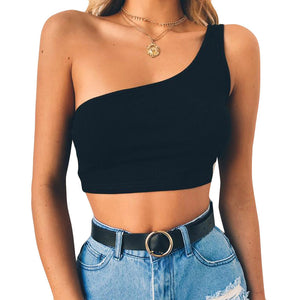 Sexy Camisole Cotton Sleeveless Crop Top