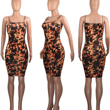 Load image into Gallery viewer, Camo Mini Dress