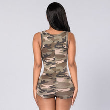 Load image into Gallery viewer, Sexy Women Camouflage Sleeveless Playsuit