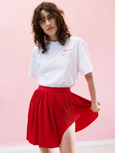 Swirl Skirt Red