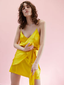 Pompeii Dress Acid Yellow