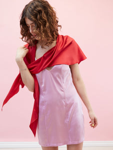 Pompeii Dress Lilac & Red