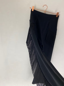 FANNY TROUSERS TASSLES BLACK