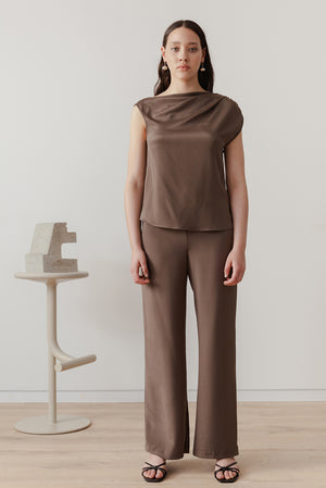 Eveline Blouse - Chocolate - LOCLAIRE