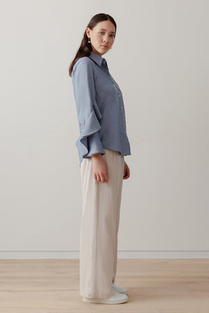 Oyster Shirt - Chambray - LOCLAIRE