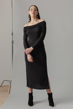 Dunes Dress – Charcoal - LOCLAIRE