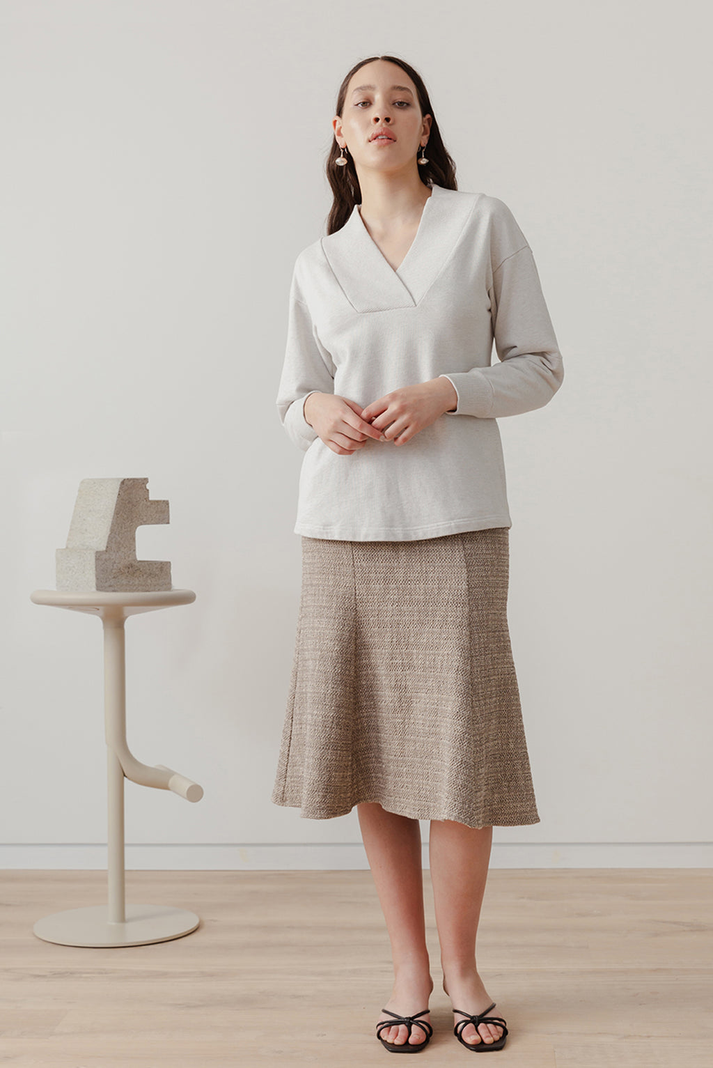 Eveline Skirt - Biscuit - LOCLAIRE