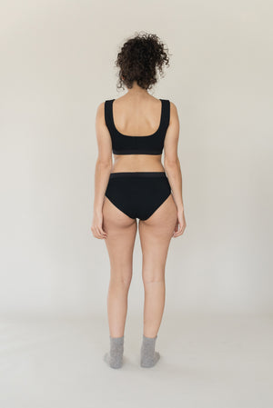 Scallop Brief - Black