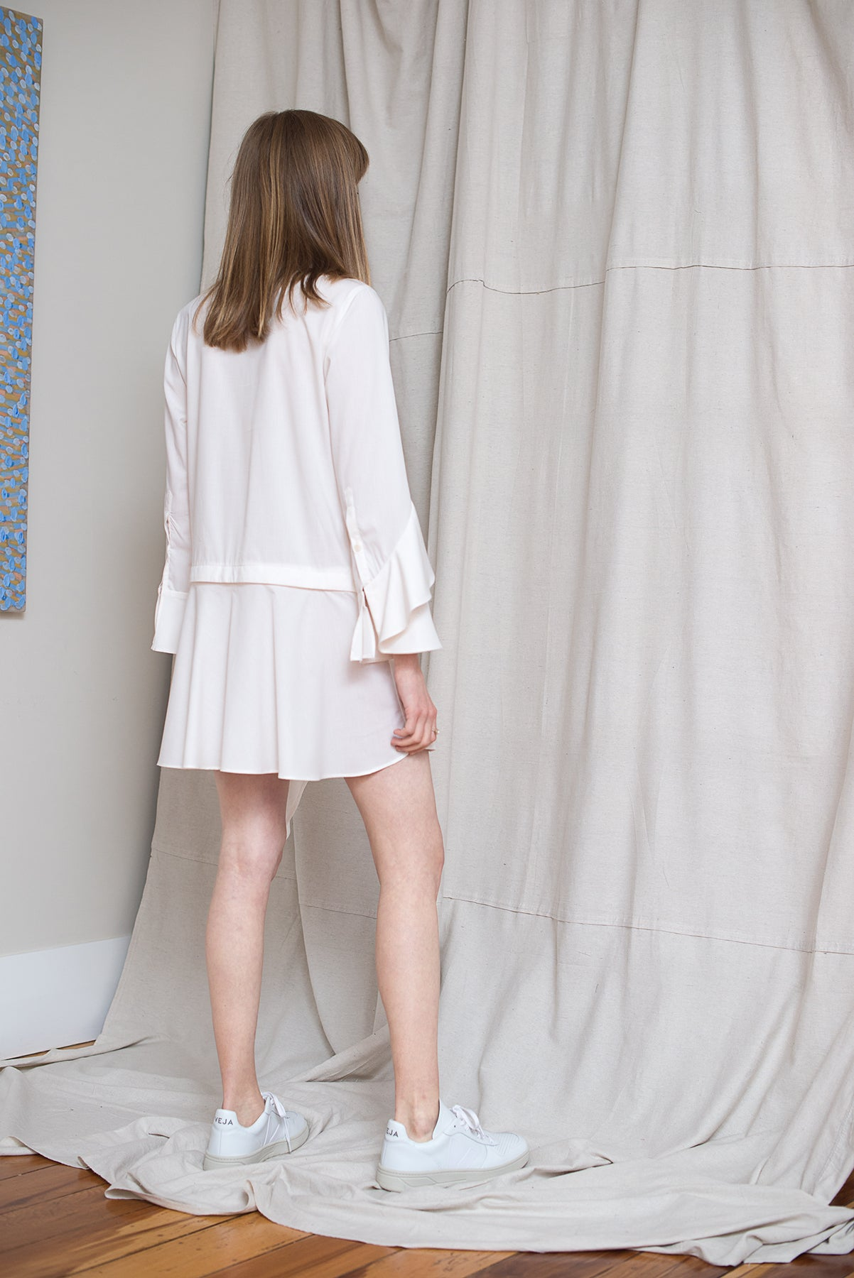 Oyster Shirtdress - Cloud - LOCLAIRE