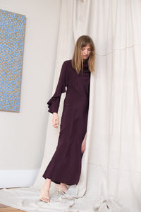 Oyster Gown - Aubergine - LOCLAIRE