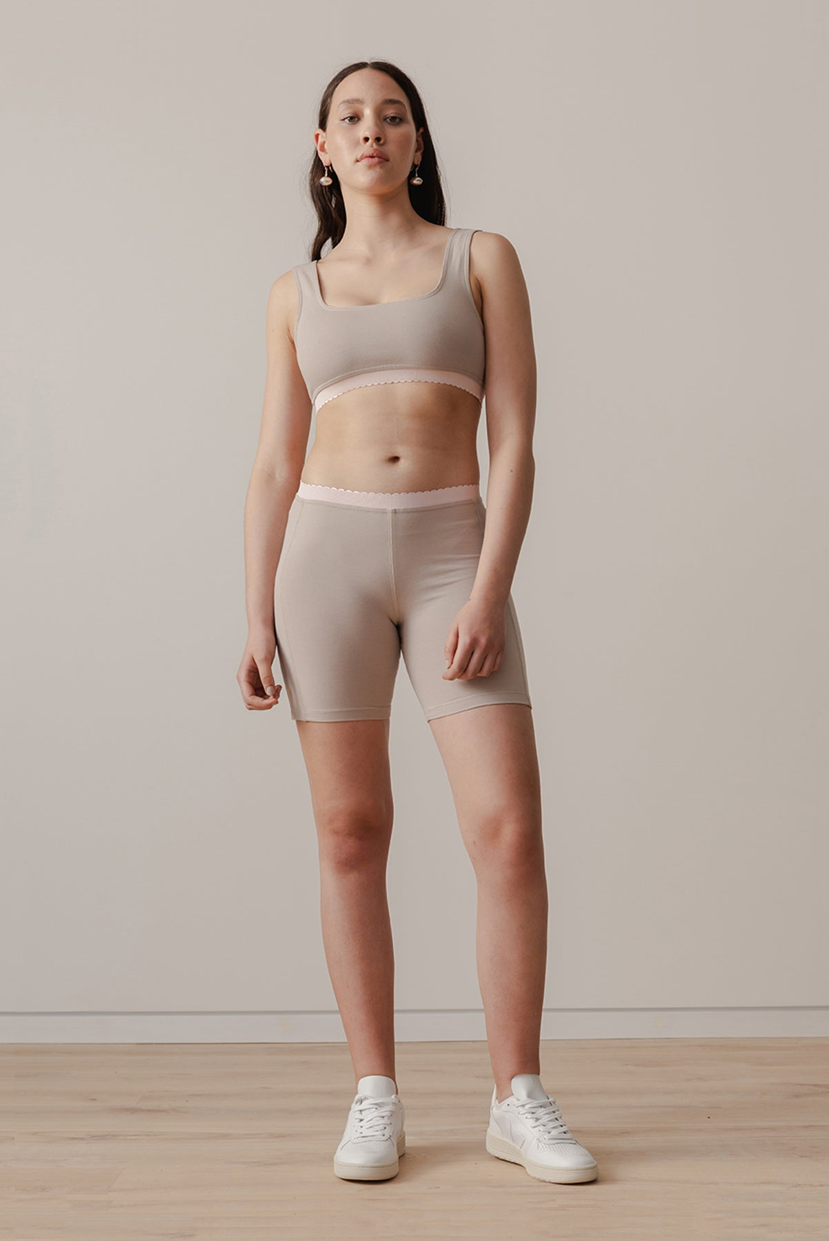 Scallop Bike Short - Nutmeg - LOCLAIRE