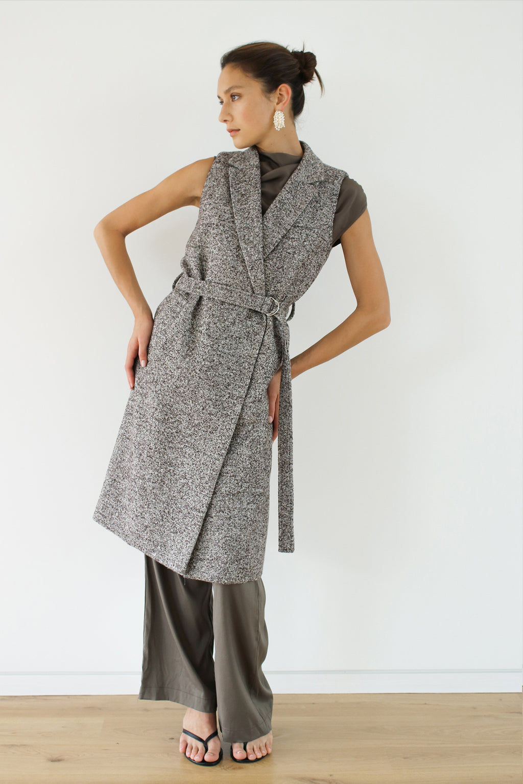 Eclipse Vest Coat - Oreo - LOCLAIRE