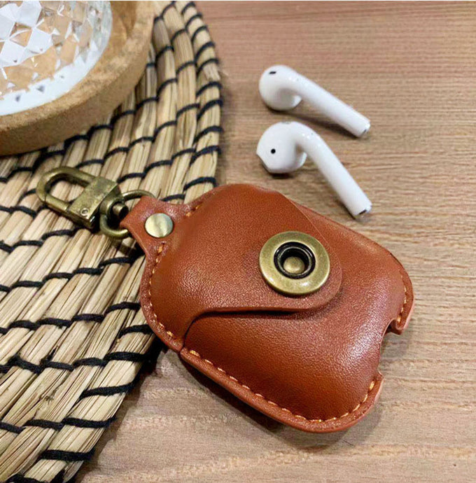 HayPods Leather Case Cover brown