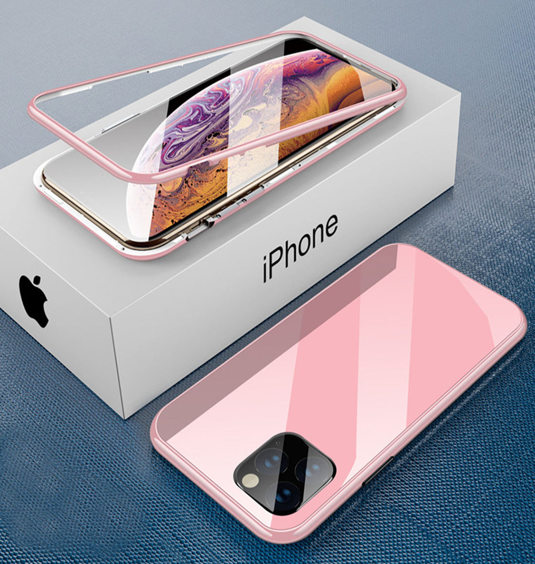 iPhone pink TPU magnetic case