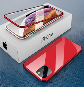 iPhone red TPU magnetic case